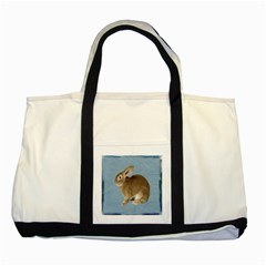 Cute Bunny Two Toned Tote Bag
