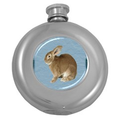 Cute Bunny Hip Flask (Round)