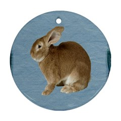 Cute Bunny Round Ornament (Two Sides)