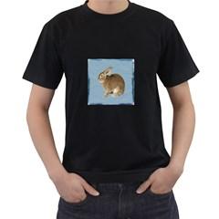 Cute Bunny Mens' T Shirt (black)