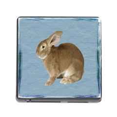 Cute Bunny Memory Card Reader With Storage (square)