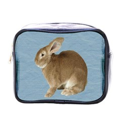 Cute Bunny Mini Travel Toiletry Bag (one Side)