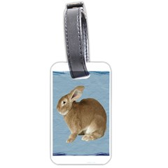 Cute Bunny Luggage Tag (Two Sides)