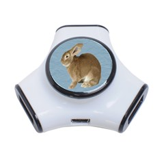 Cute Bunny 3 Port USB Hub