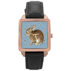 Cute Bunny Rose Gold Leather Watch