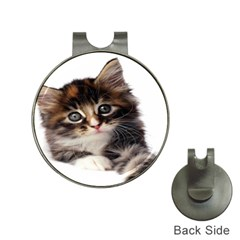 Curious Kitty Hat Clip With Golf Ball Marker