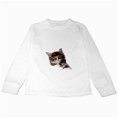 Curious Kitty Kids Long Sleeve T-Shirt