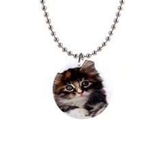 Curious Kitty Button Necklace