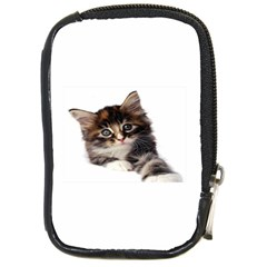 Curious Kitty Compact Camera Leather Case