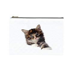 Curious Kitty Cosmetic Bag (Large)