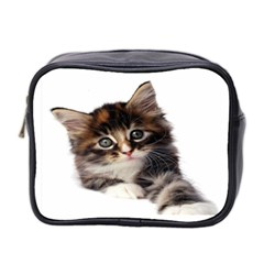 Curious Kitty Mini Travel Toiletry Bag (Two Sides)