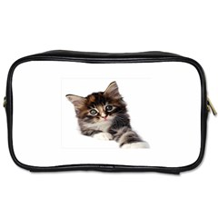 Curious Kitty Travel Toiletry Bag (Two Sides)