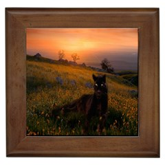 Evening Rest Framed Ceramic Tile