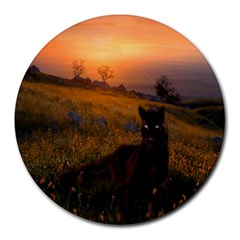 Evening Rest 8  Mouse Pad (Round)