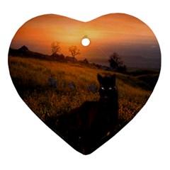 Evening Rest Heart Ornament