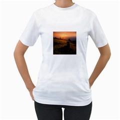 Evening Rest Womens  T Shirt (white)