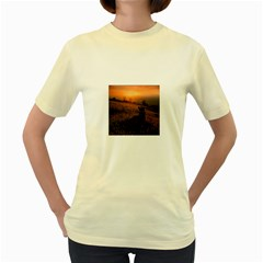 Evening Rest  Womens  T-shirt (Yellow)