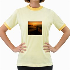 Evening Rest Womens  Ringer T-shirt (Colored)