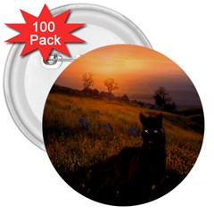Evening Rest 3  Button (100 Pack)