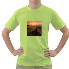 Evening Rest Mens  T Shirt (green)