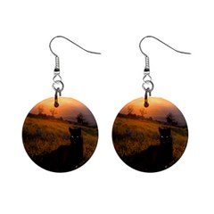 Evening Rest Mini Button Earrings