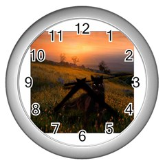 Evening Rest Wall Clock (Silver)