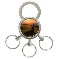 Evening Rest 3-Ring Key Chain