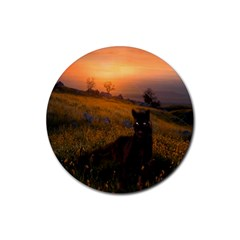 Evening Rest Drink Coasters 4 Pack (Round)