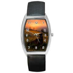 Evening Rest Tonneau Leather Watch