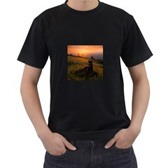 Evening Rest Mens' Two Sided T Shirt (black)