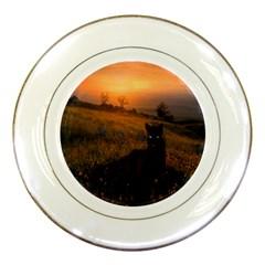 Evening Rest Porcelain Display Plate