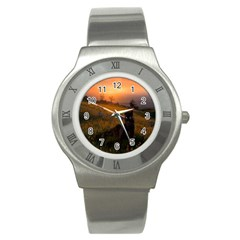 Evening Rest Stainless Steel Watch (unisex)