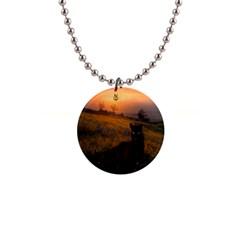 Evening Rest Button Necklace