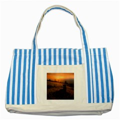Evening Rest Blue Striped Tote Bag