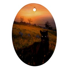 Evening Rest Oval Ornament (Two Sides)