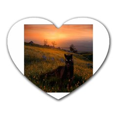 Evening Rest Mouse Pad (Heart)