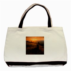 Evening Rest Twin-sided Black Tote Bag