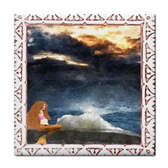 Stormy Twilight [Framed] Ceramic Tile