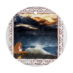 Stormy Twilight [framed] Round Ornament