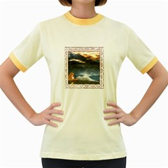 Stormy Twilight [framed] Womens  Ringer T Shirt (colored)