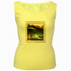 Stormy Twilight [Framed] Womens  Tank Top (Yellow)