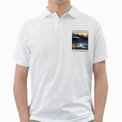 Stormy Twilight [Framed] Mens  Polo Shirt (White)