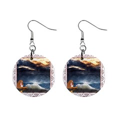 Stormy Twilight [Framed] Mini Button Earrings