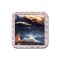 Stormy Twilight [Framed] Drink Coaster (Square)