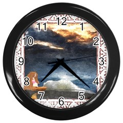 Stormy Twilight [Framed] Wall Clock (Black)