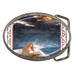 Stormy Twilight [Framed] Belt Buckle (Oval)