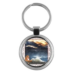 Stormy Twilight [framed] Key Chain (round)
