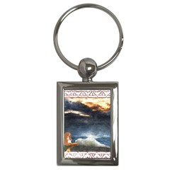 Stormy Twilight [Framed] Key Chain (Rectangle)