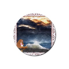 Stormy Twilight [Framed] Drink Coasters 4 Pack (Round)
