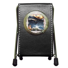 Stormy Twilight [framed] Stationery Holder Clock